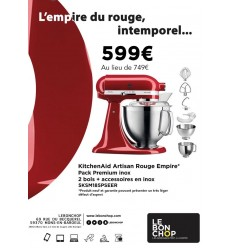KitchenAid Artisan Rouge Empire - Pack Premium